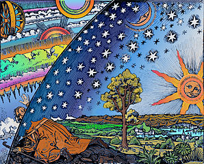 Flammarion_Woodcut_1888_Color_2